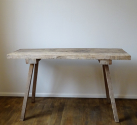 Old wooden slaughter table