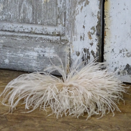 Ostrich feather corsage