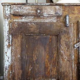 Antieke Frans eiken dressoir kast
