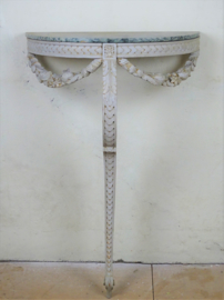 Antique French console table / wall table