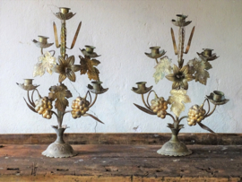 Antique French candlesticks, set of two