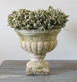 Concrete garden vase