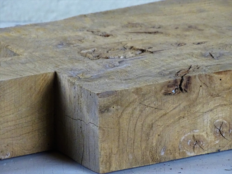 Old wooden chopping board