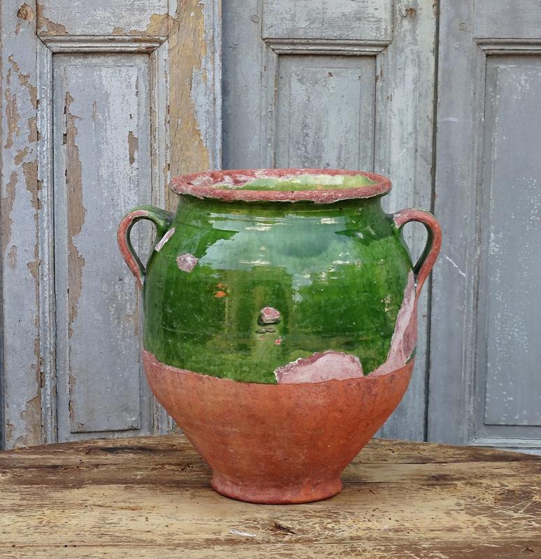 Antieke Franse confitpot 'verte'