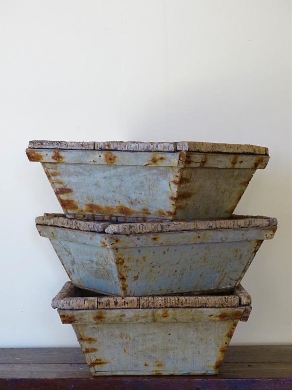 Oude Franse houten oesterbakken