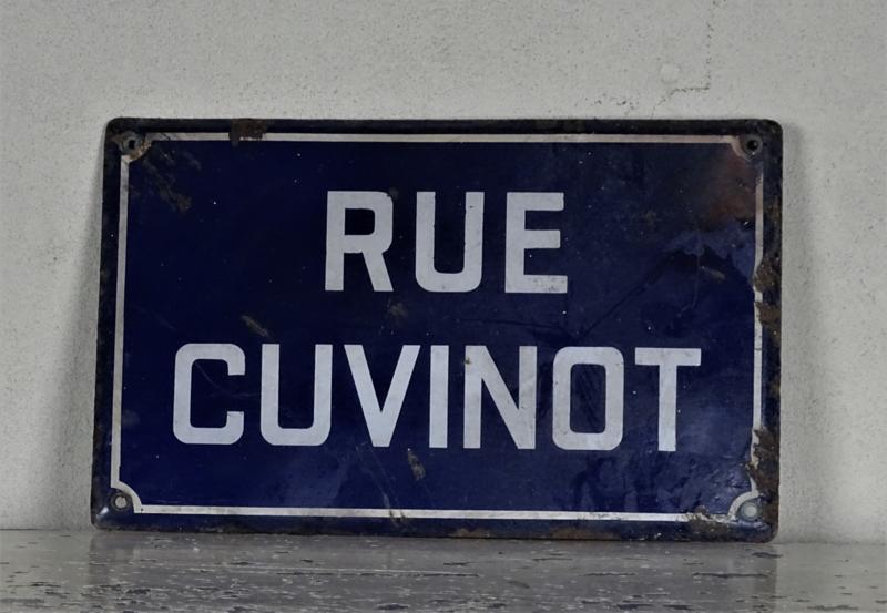 Frans straatnaambord 1