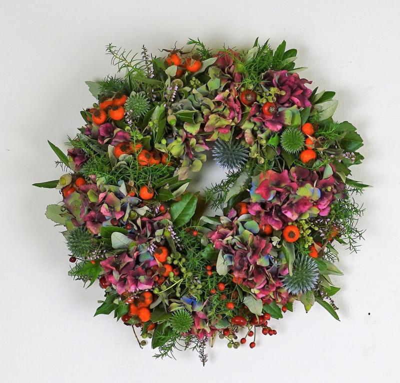 Herfstkrans hortensia