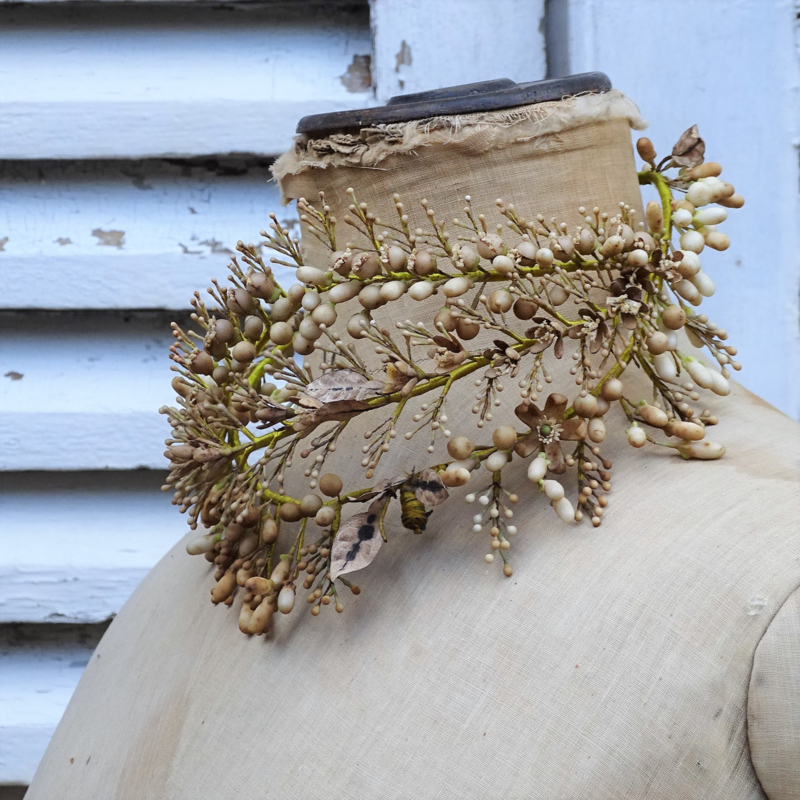 Antiek wassen bruidskroon