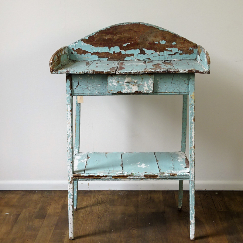 Antiek houten toilettafel / kaptafel
