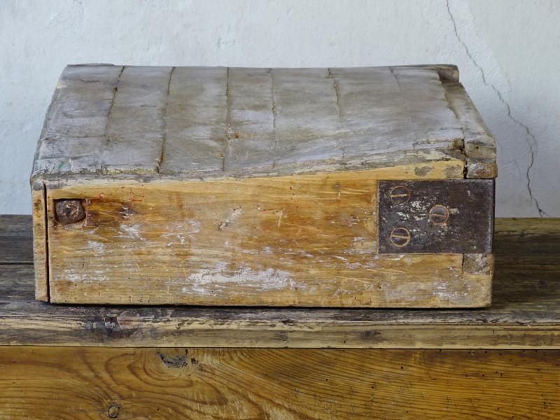 Antiek houten hakblok / slagersblok