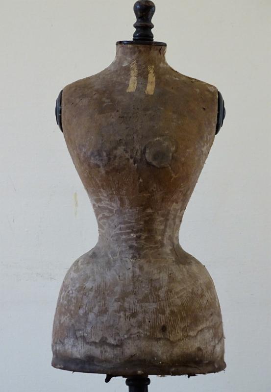 Antieke Stockman wespentaille paspop