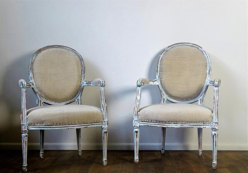 Franse fauteuils Louis XVI