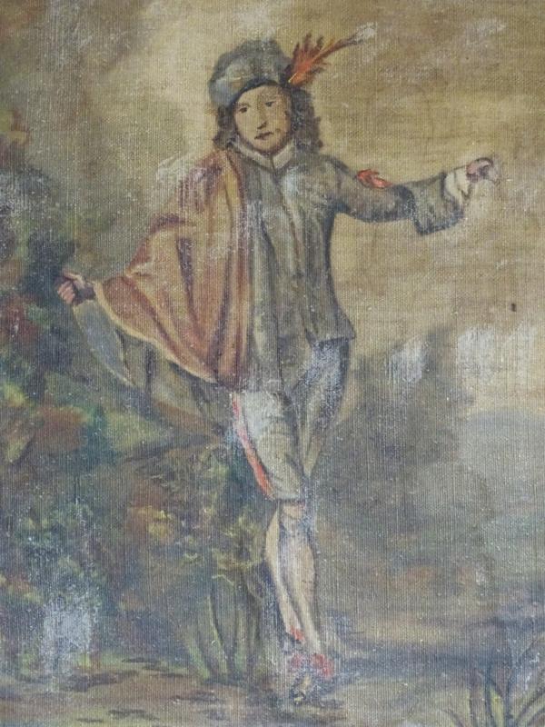 Schilderij schildknaap