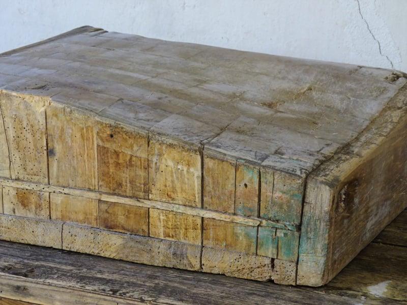 Antique wooden chopping block / butcher block