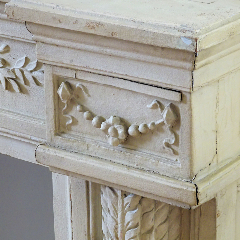 Antieke houten schouw