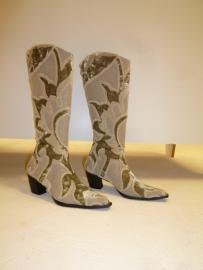 Geborduurde laarzen `` By CICK`` maat 40. Verkocht