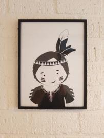 Zoedt Poster zwart wit 30 x 40 cm in  zwart of houten lijst.