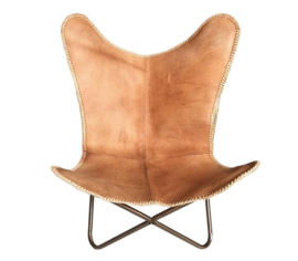 Leather Butterfly Chair Vintage Brown