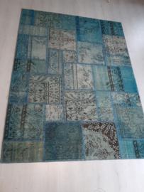 Perzisch Patchwork tapijt. Hand Made 245 cm  x 185 cm. Ibiza