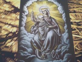 Moeder Gods. 3 luik op doek Enkel stuk