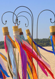 Ibiza flags, roze,  blauw, of ecru.