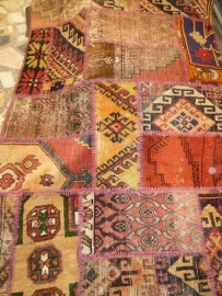 Perzische patchwork,  handgemaakte tapijten.