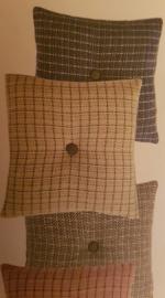 Stitch wollen plaid van Klippan, 130 x 200 cm, Beige.