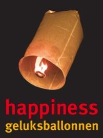 Happiness geluksballonnen € 5,95 nu voor € 1,99 per stuk.