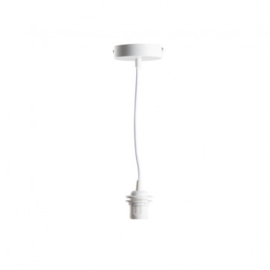 Wit enkelvoudig ophangsysteem - Deluxe Wit voor een Cotton Ball lamp, of hanglamp Jungle