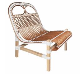 Rattan Lounge Chair White Malagoon