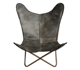 Leather Butterfly Chair Vintage Natural Brown