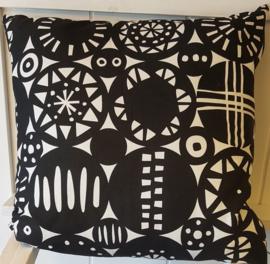Kussen Retro Kippan 40 x 40 cm Cotton Zwart Wit