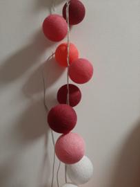 Cotton Ball lichtslinger 20 ballen Rose Pink