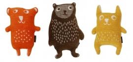 Little bear, oranje knuffel van Klippan.