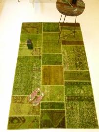 Patchwork Perzische  tapijt Lente groen