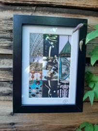 Foto-gra-sfeer By Cick Zwart Fotolijstje 13 x 18 cm met mini poster