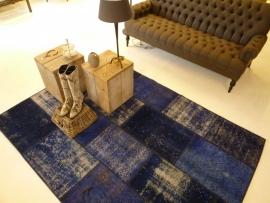 Patchwork Perzische handgemaakte tapijten-kobaltblauw