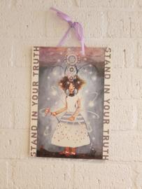 Papaya hardboard schilderij 41 x 29 cm