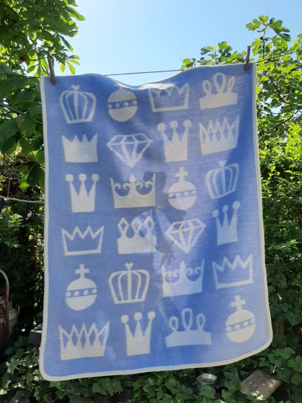 Klippan Chenille Cotton Wiegdeken Crown.