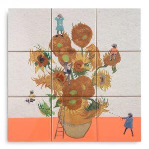 StoryTiles tableau Van Gogh, 33 x 33 cm. Limited Edition