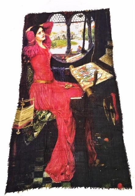 """Wollen sjaal """"Woman"""" 180 x 70 cm."""
