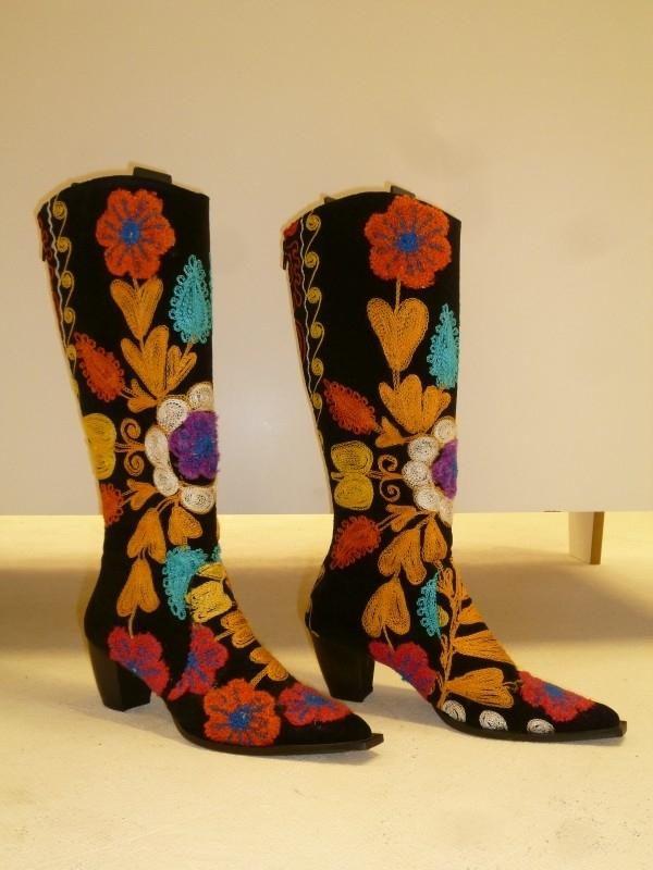 Geborduurde laarzen `` By CICK`` Suzani - maat 40, Verkocht.