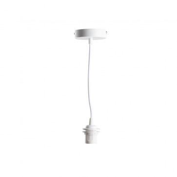 Wit enkelvoudig ophangsysteem - Deluxe Wit voor een Cotton Ball lamp, of hanglamp Jungle