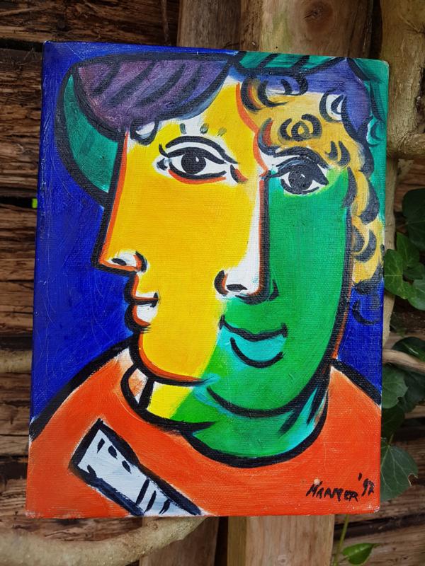 Uniek doek van Altaf Kramer Acryl 18 x 24 cm