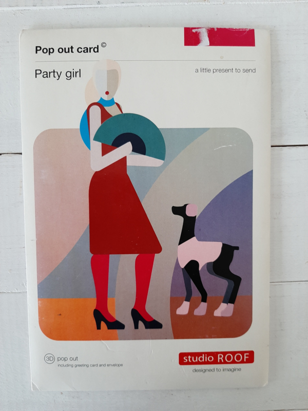 Party Girl Studi Roof Pop-Out kaart