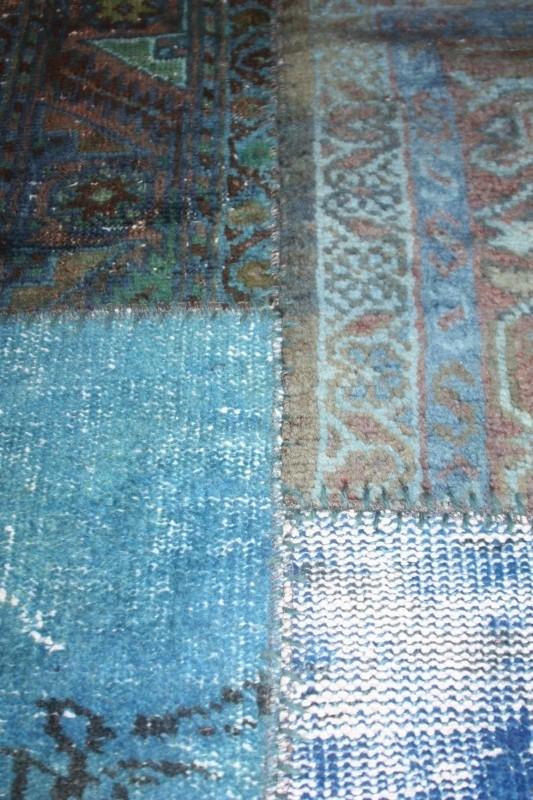 Patchwork Perzische  tapijt- kobalt blauw