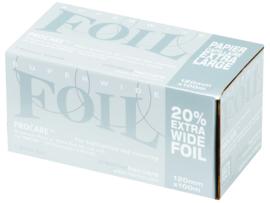 6 rollen Procare Premium folie, 100 m X 12 cm, 18 mu, zilver