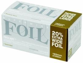 Procare Premium folierol, 100 m X 12 cm, 18 mu, goud
