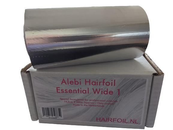 1 rol Alebi Essential Wide 1 folie, 14,5cm X 200m, 15 mu coated,  zilver