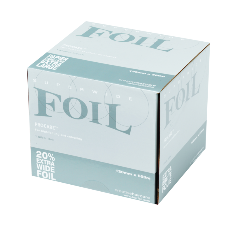 1 rol Procare Clog folie 12 cm X 500 m, 18 mu, zilver